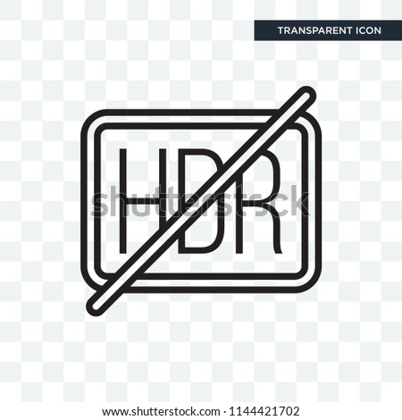 hdr vector icon isolated on