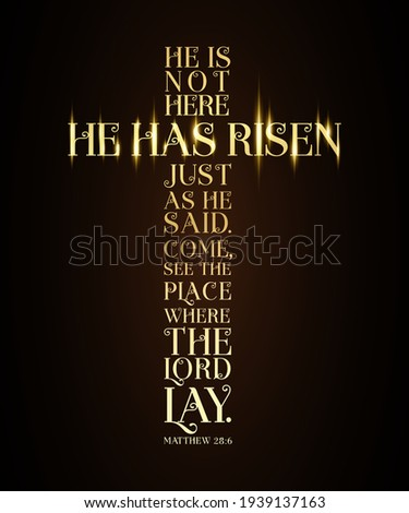 he has risen easter sunday