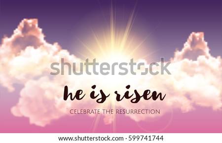 he is risen easter banner