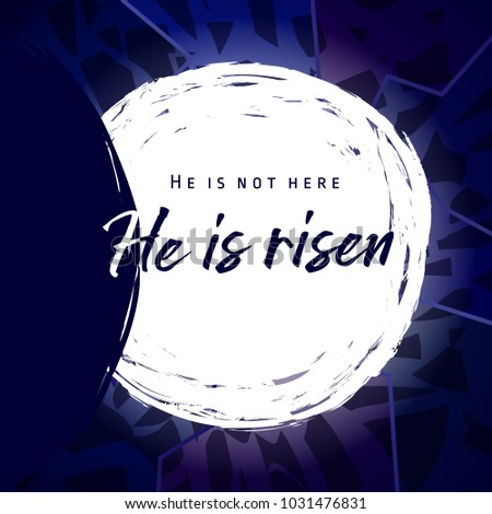 he is risen  he is not here