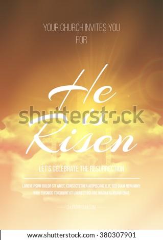 he is risen  vector easter