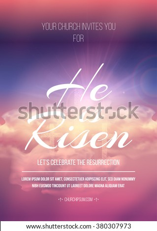 he is risen  vector easter