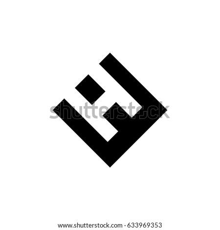 he letter vector logo