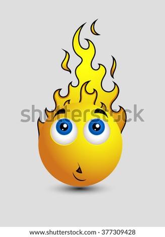 Head Burning Emoji Smiley Emoticon
