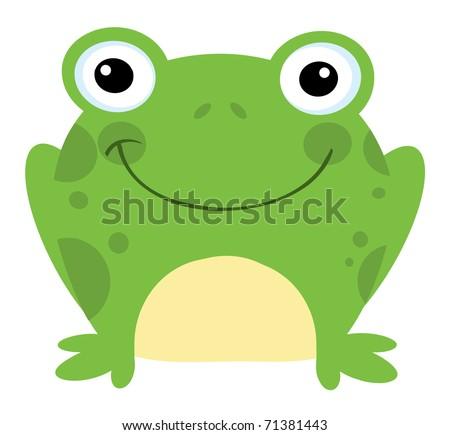 head frog cartoon character