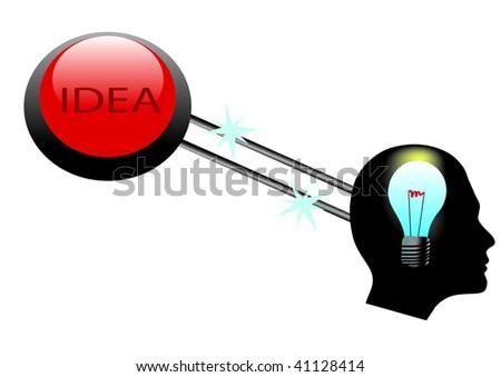 head idea button