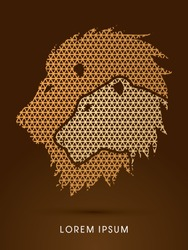 Head Lion and Lioness designed using line geometric pattern graphic vector.
