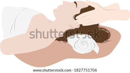 head massage minimalistic