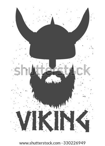 head of a bearded viking