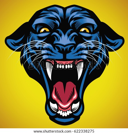 head of angry black panther