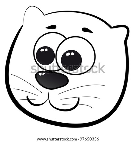 Cats Head Head of Cat Cartoon