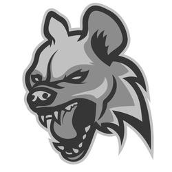 Head of evil hyena, logo