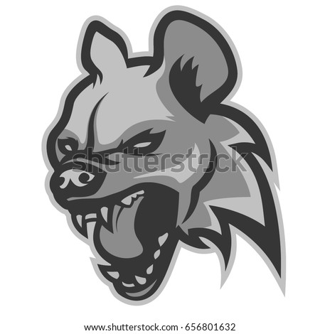 Head of evil hyena, logo