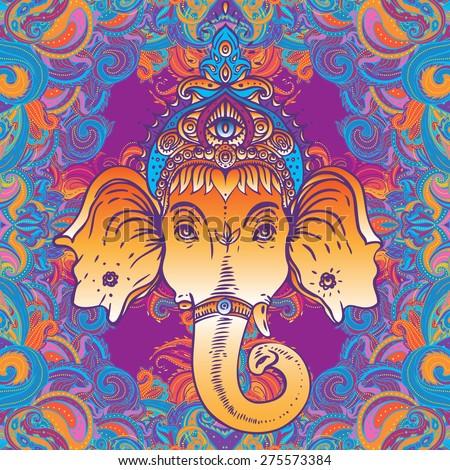 head of hindu god ganesha