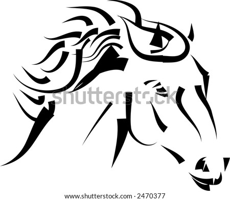 head of horse - stock vector