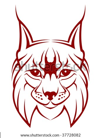 Head of lynx as a mascot - abstract emblem. jpeg version also available