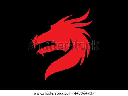head of the dragon vector in