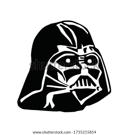 head robot stars wars vector