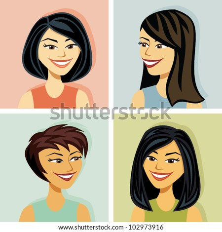 head shots of several women of
