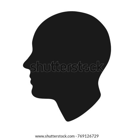 head silhouette. vector...