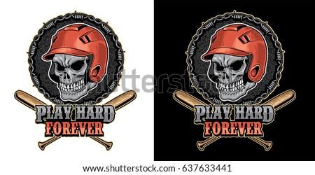 head skull baseball
