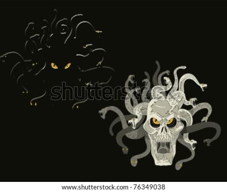 head skull medusa
