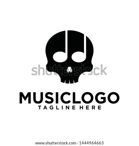head skull with music notes