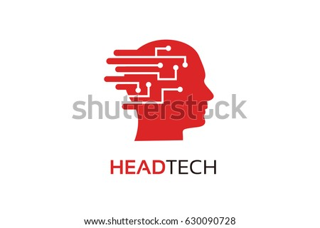 Head Tech Logo Template Design