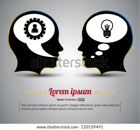 Head vector idea concept / business concept / can use for brochure