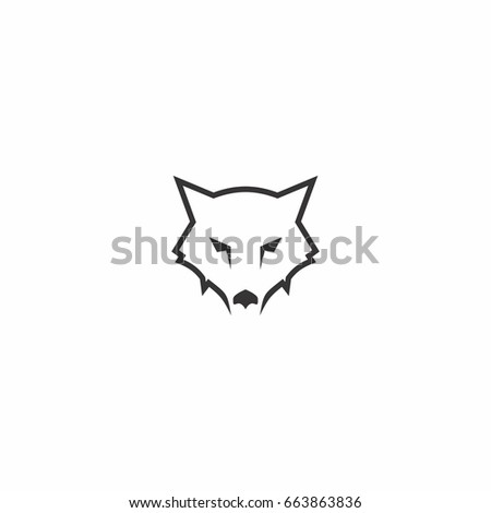 head wolf abstract