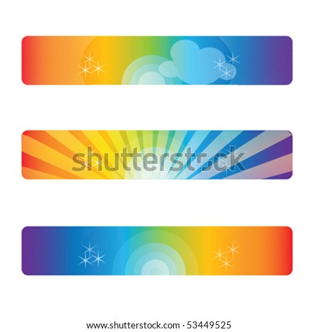 Header, Banners, isolated on white