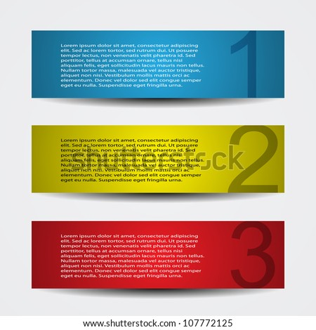 Header designs - stock vector