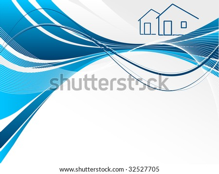 header for real estate or construction company presentation stock