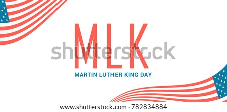 Header Or Banner Of Martin Luther King Day.