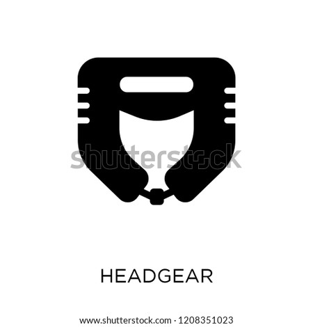 Headgear icon. Headgear symbol design from Gym and fitness collection. Simple element vector illustration on white background.