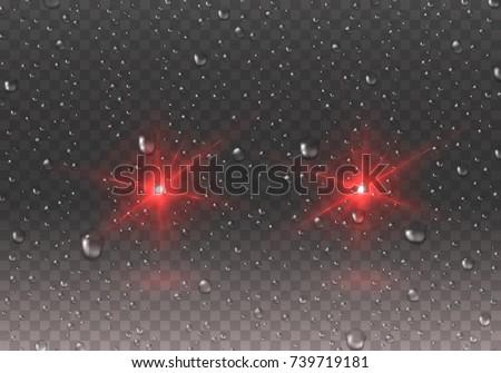 headlights effect with rain