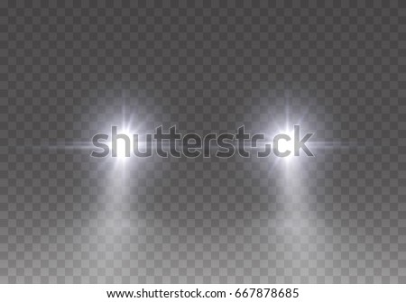 headlights flares effect