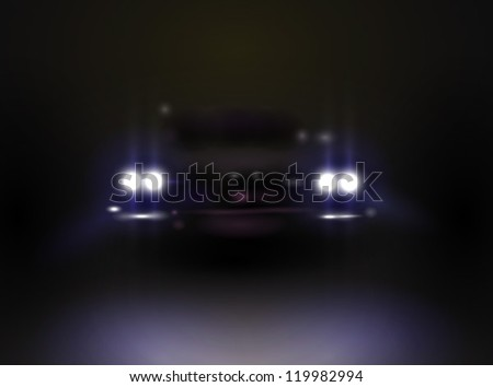 headlights in the dark  vector