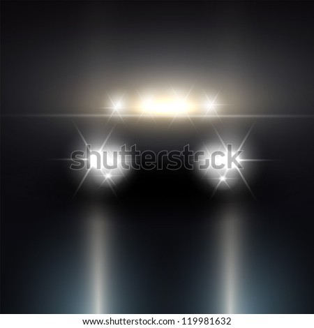 headlights of car driving