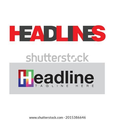 headline sign,label. headline logo. headline tag sign. headline banner