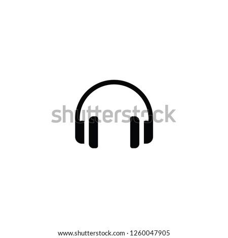 headphone black vector,icon