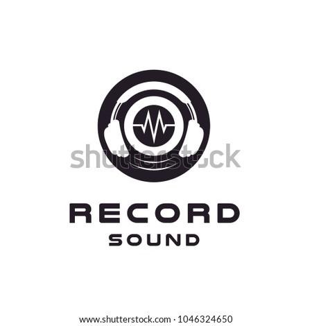 headphone   dj logo design