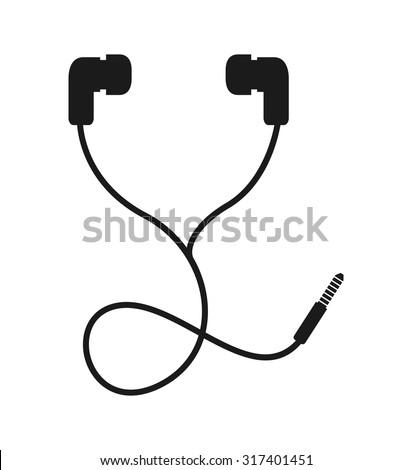 headphone icon design  vector
