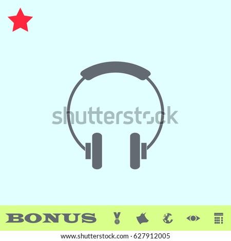 headphone icon flat grey