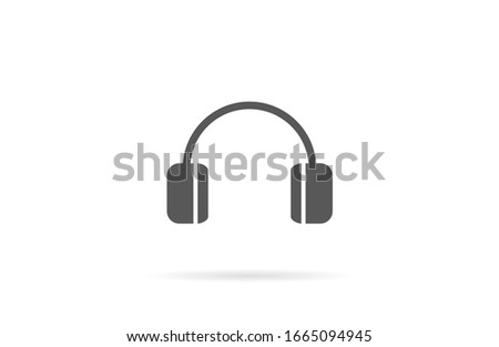 headphone icon, headphone icon vector, in trendy flat style isolated on white background. headphone icon image, headphone icon illustration headphones vector 10 eps