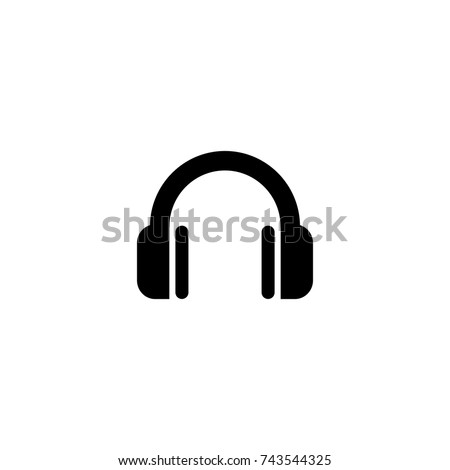 headphone icon, headphone icon vector, in trendy flat style isolated on white background. headphone icon image, headphone icon illustration