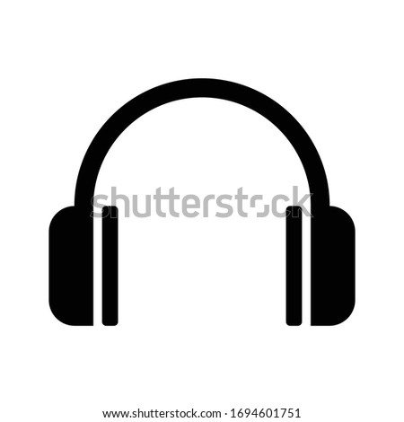 Headphone icon, headphone vector, in trendy flat style isolated on white background. headphone icon image, headphone icon illustration. Vector icon.