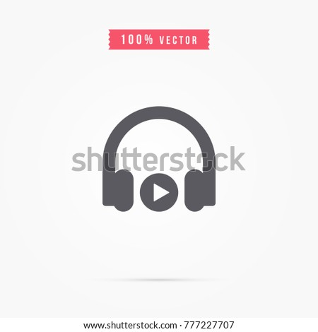 headphone icon. music sign