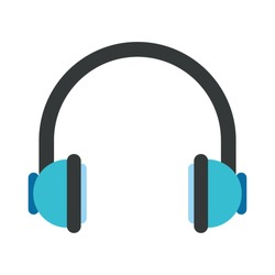 headphone icon over white background, vector illustration