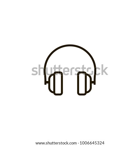 headphone icon. sign design